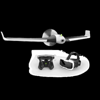Dron s dálkovým ovladačem a virtuálními brýlemi Parrot Disco FPV