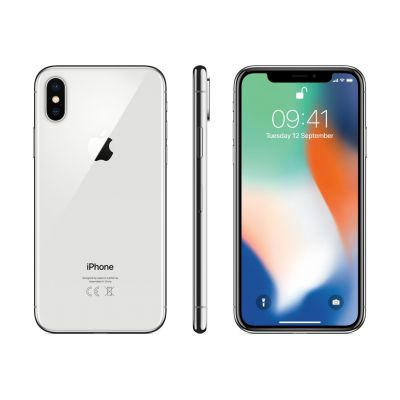 Apple iPhone X 64GB Silver, Zaruka a odpovednost z vad 12 mesicu, iPhone novy, ACC nove