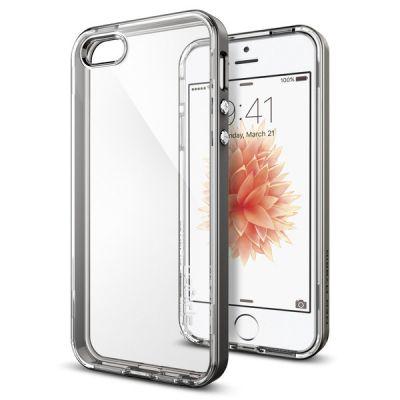 Kryt na iPhone SE / 5s / 5 Spigen Neo Hybrid Crystal - šedý