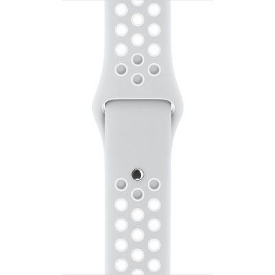 Apple - 42mm platinový/bílý sportovní řemínek Nike - S/M a M/L