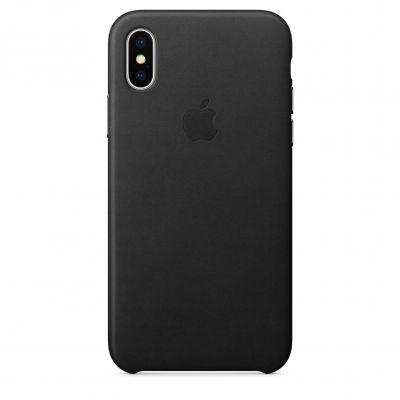 Apple kožený kryt na iPhone X – černý