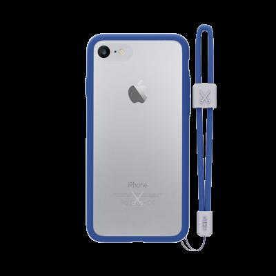 PHILO slim, ultra tenké bumper pouzdro pro iPhone 7, modré