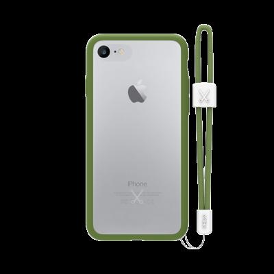 PHILO slim, ultra tenké bumper pouzdro pro iPhone 7, vojensky zelené