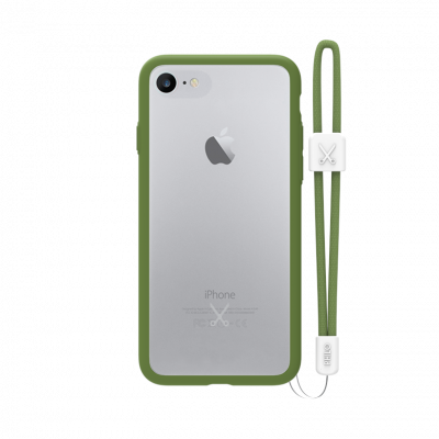 PHILO slim, ultra tenké bumper pouzdro pro iPhone 7 Plus, vojensky zelené
