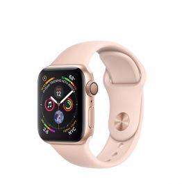 bb2fb33db54 Apple Watch Series 4 GPS 40mm pouzdro ze zlatého hliníku s pískově růžovým sportovním  řemínkem